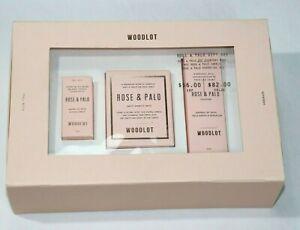 WOODLOT 3 Piece Rose & Palo Gift Set