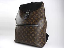Auth LOUIS VUITTON Palk Mens Backpack Bag Monogram Macassar Canvas M40637 V-0401