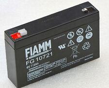 BATTERIA Battery Batteria gruppo di continuità UPS 6v 7,2ah fg10721 FIAMM 6 Volt 7,2 a Amper NUOVO ak-3
