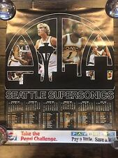 Seattle Supersonics Vintage Poster Collection Break - 1981/1982 Team Issued NM+