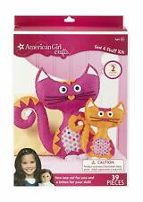 American Girl Doll Crafts Sew and Stuff Cats Activity Kit Kids Beads Needle Felt