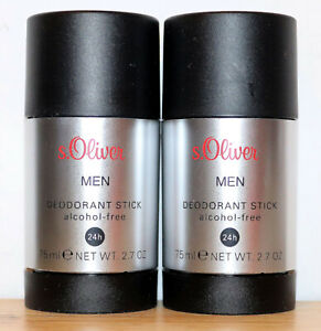 S.Oliver Men Deodorant Stick 2 x 75 ML=150 ML (Gp = 13,30 €/ 100ml)