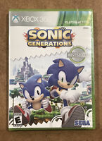 Sonic Generations Xbox 360 Factory Sealed Free Shipping