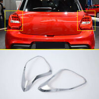 For Suzuki Swift Hatchback 2018-2020 Car Chrome Rear Tail Light Lamp Cover Trim