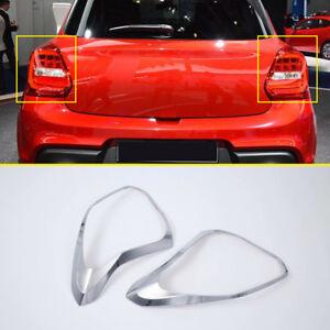 For Suzuki Swift Hatchback 2018-2020 Car Chrome Rear Tail Light Lamp Cover Trim