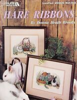 Leisure Arts 2069 HARE RIBBONS Realistic Bunny Rabbits for Counted Cross Stitch