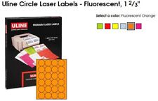 2400 Labels Per Case Fluorescent Yellow, 1 2//3 Circle Laser Labels//Stickers