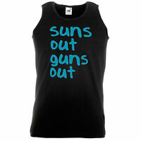 Suns Out Guns Out Spring Break Street 21 22 Tatum Channing Jump Funny Vest S-XXL