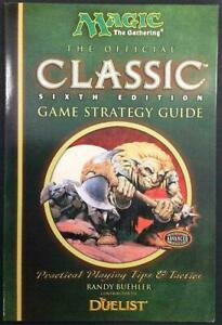 WOTC MTG Player's Guides Official Classic Sixth Ed Game Strategy Guide VG+