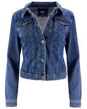 ONLY Damen Denim Jeansjacke Jacke blau Übergangsjacke Damenjacke Retro Vintage