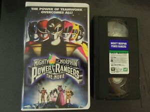 MIGHTY MORPHIN POWER RANGERS THE MOVIE ON VHS IN CLAMSHELL CASE *TCI#R