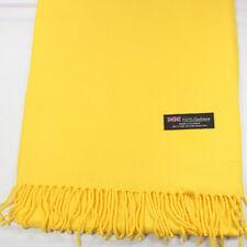 Men Women unisex 100% CASHMERE Warm PLAIN Scarf pure solid colored Wool SCOTLAND