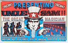 UNCLE SAM THE GREAT MAGICIAN, Anti-War Black Light Poster, 1971