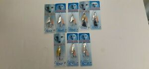 8 Vintage BLUE FOX Vibrax Spinning Lures - #4 & 5 New in Package