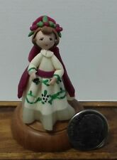 Dollhouse Miniature Handcrafted Sculpted Vintage Toy Doll with Painted Detail