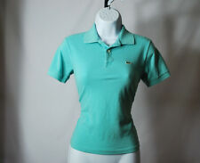 Lacoste Teal Short Sleeve Polo Girls Sz 14