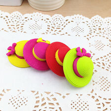 4pcs Children Kid Novelty Hat Erasers Rubbers Fashion Summer Hat Erasers Rubbers