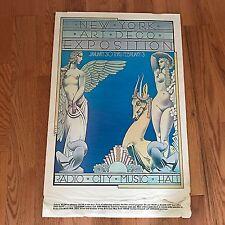 Original Vintage Poster NEW YORK ART DECO EXPOSITION 1974 Radio City Music Hall