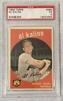 1959 Topps #360 Al Kaline Psa 5 Ex Detroit Tigers Hall Of Fame