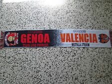 sciarpa GENOA - VALENCIA europa league 2010 football club calcio scarf a1