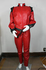 thriller leather jacket pants S vintage suit 80s new wave michael jackson outfit