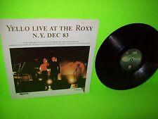 """Yello – Live At The Roxy N.Y. Dec 83 Orig German Vinyl 12"""" 1983 Spaceship Label"""