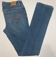 Aeropostale Womens Size 2 Bayla Skinny Crop Jeans Stretch Blue Denim Teen A53