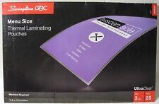 Swingline Gbc Menu Size Thermal Laminating Pouches 115x175 3 Mil 25 Pack