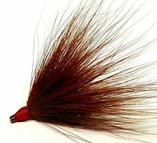 Muskie Northern Pike Bass Musky Bucktail Inline Spinner Pre-Tie Coil Skirt-Brown