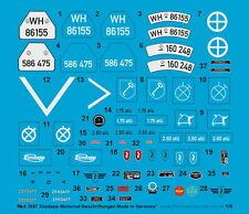 Peddinghaus 1/6 EP 2687 Zündapp Moto Étiquettes