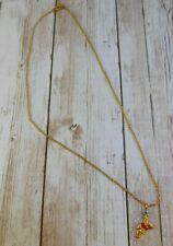 Avon Disney Winnie the Pooh Gold Necklace Birthstone March