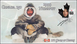 CA17-034, 2017, Canada 150, 1999 Nunavut, Day of Issue, FDC