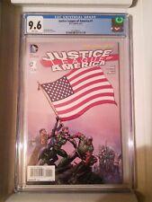 Justice League of America #1 (DC, third series) CGC 9.6, Finch's flag raising