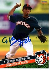 Gerson Moreno 2015 Connecticut Tigers Signed Card