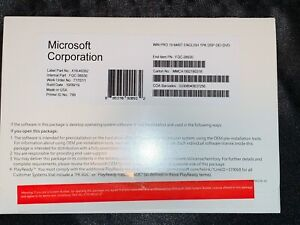 WlNDOWS 10 PRO PROFESSIONAL 64 BIT- PRODUCT KEY STICKER GENUINE MlCROSOFT