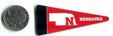 "UNIVERSITY OF NEBRASKA - Big 10 MINI Magnet Fridge Pennant - 2.5"" x 1"""