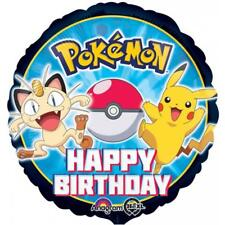 "Pokemon Pikachu & Friends Happy Birthday 18"" Foil Mylar Balloon 1 Per Package"