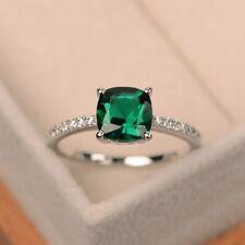 Elegant Women 925 Silver Rings Multi-colors Topaz Wedding Gift Size 6-10