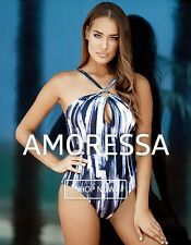 NWT AMORESSA MIRACLESUIT Women's Net Neutrality One Piece High Neck Swimsuit