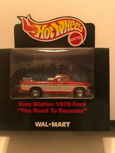 1/64 HOT WHEELS SAM WALTON 1979 FORD PICKUP TRUCK RED AND WHITE