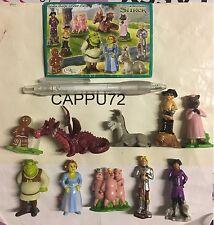Shrek 1-SERIE Completo 10Pcs + 10 Mapas De ST271 ST280 Kinder Sorpresa 2007/08