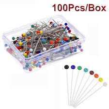 100PCS Glass Round Head Pins Sewing Corsage Straight DIY Dressmaking