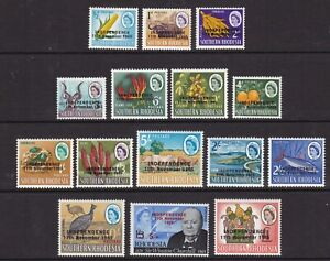 Rhodesia - SG 359/73 - u/m - 1966 - Independence overprinted