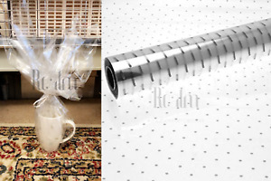 Silver Dots Clear Cellophane Wrapping Gift Paper, Wedding Birthday Hampers Wrap