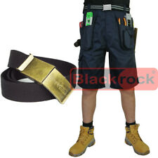 Blackrock Workman Work Shorts Cargo Combat Trousers 65 Polyester 35 Cotton 42 In. Navy Blue