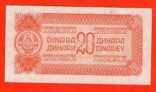 YUGOSLAVIA 20 DINARA 1944  .G. PARTIZAN  - W/O NO SERIAL NUMBER   - RRRRR