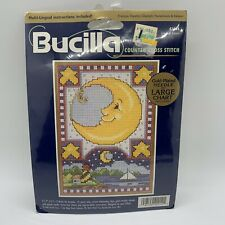 BUCILLA #42014 CELESTIAL DREAM COUNTED CROSS STITCH MOON GOLD PLATED NEEDLE