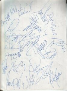1990 Phoenix Suns & Vancouver Canucks Autographed Page by 36 w/ Jeff Hornacek