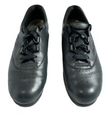 SAS Womens Free Time Black Lace Up Oxford Walking Shoes Sneakers 7.5 Slim Tripad