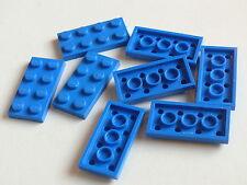 Lego 8 plates bleues set 483 7033 6573   / 8 blue plates